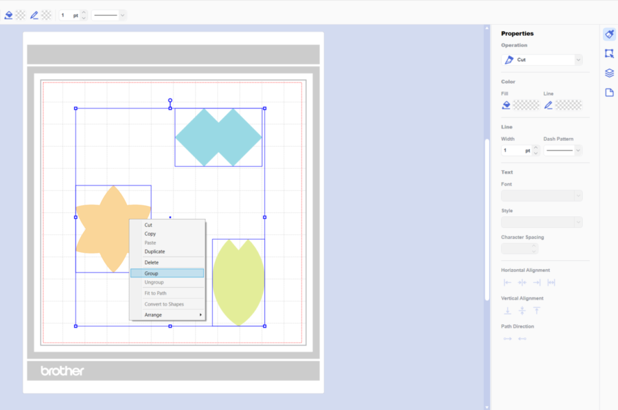 How to align and group elements in Canvas Workspace