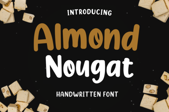Print on Demand: Almond Nougat Sans Serif Font By Manjalistudio