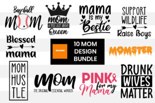 Print on Demand: 10 Mom Craft Bundle Graphic Print Templates By Maumo Designs