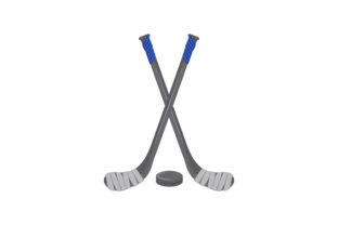 Hockey Stick and Puck Sports Craft Cut File By Creative Fabrica Crafts