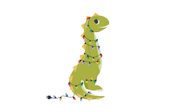 Christmas Dinosaur Christmas Archivo de Corte Craft Por Creative Fabrica Crafts