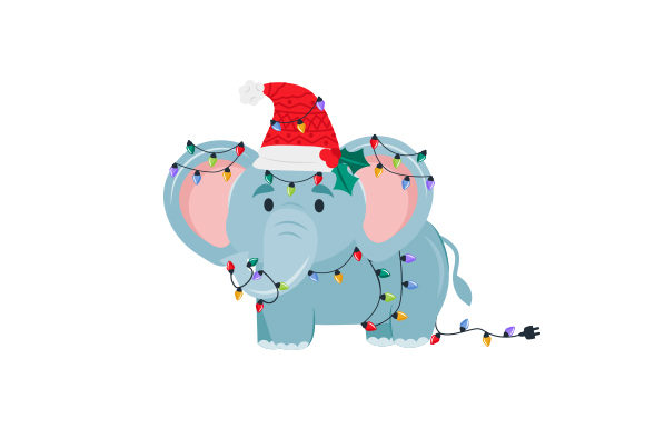 Christmas Elephant Christmas Craft Cut File By Creative Fabrica Crafts