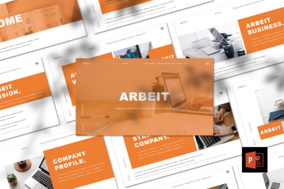 ARBEIT  - PPT Template Graphic Presentation Templates By Giri Creative