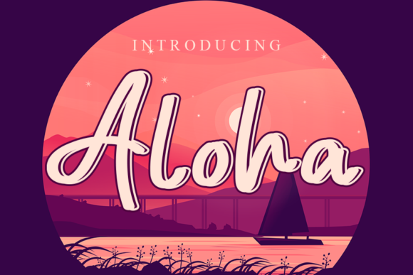 Print on Demand: Aloha Script & Handwritten Font By gunawanletter