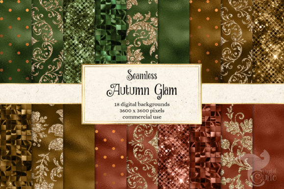Print on Demand: Autumn Glam Digital Paper Graphic Textures By Digital Curio