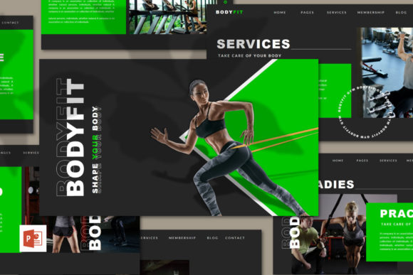 BODYFIT - PPT Template Graphic Presentation Templates By Giri Creative