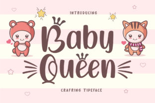 Print on Demand: Baby Queen Display Font By Graphicxell