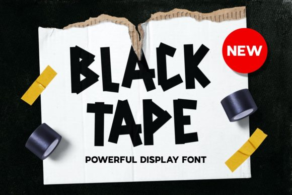 Print on Demand: Back Tape Display Font By Pandastock
