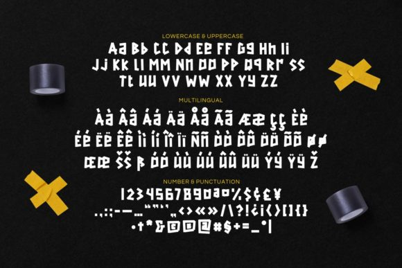 Back Tape Font Preview