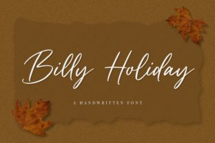 Print on Demand: Billy Holiday Script & Handwritten Font By Graphue