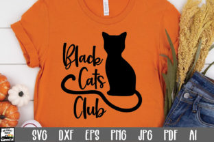 Print on Demand: Black Cats Club Graphic Crafts By oldmarketdesigns