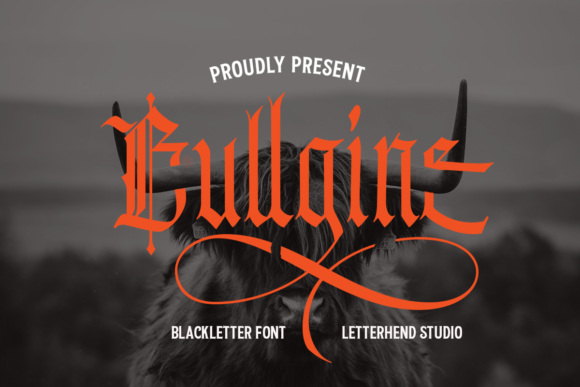 Print on Demand: Bullgine Blackletter Font By letterhend