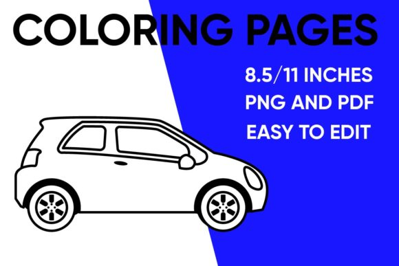 Print on Demand: Car Coloring Page for Kids Graphic Coloring Pages & Books Kids By Mah Moud
