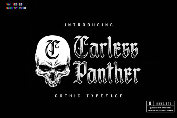Print on Demand: Carless Panther Blackletter Font By Dansdesign
