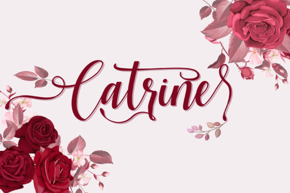 Print on Demand: Catrine Script & Handwritten Font By fiqiart09