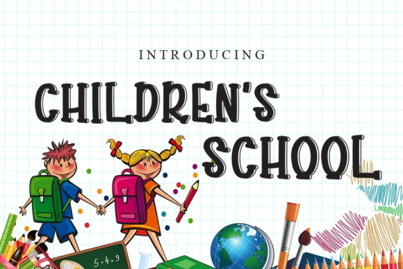 Print on Demand: Children's School Script & Handwritten Font By gunawanletter