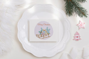 Print on Demand: Christmas Gift Boxes Deer Flowers Clipar Graphic Illustrations By PawStudio 7