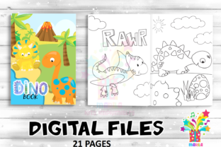 Print on Demand: Coloring Book Dinosaur Activities Pages Graphic Coloring Pages & Books Kids By marilakits