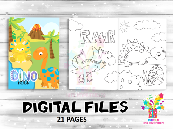 Coloring Book Dinosaur Activities Pages Graphic Coloring Pages & Books Kids By marilakits