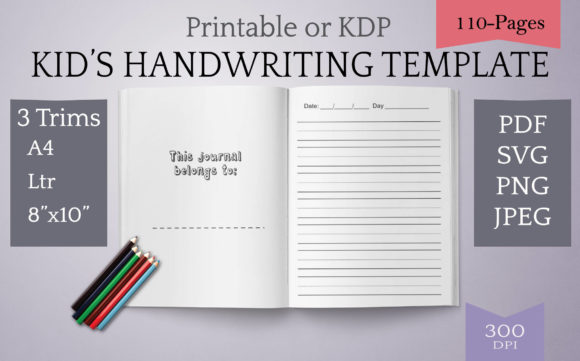 Print on Demand: Cursive & Printing Kids Template Graphic Teaching Materials By Digital Town