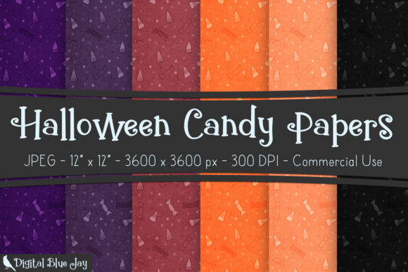 Digital Textured Paper Halloween Candy Graphic Backgrounds By digitalbluejay