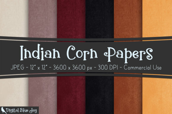 Digital Textured Paper Indian Corn Graphic Backgrounds By digitalbluejay