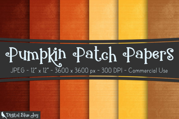 Digital Textured Paper Pumpkin Patch Graphic Backgrounds By digitalbluejay