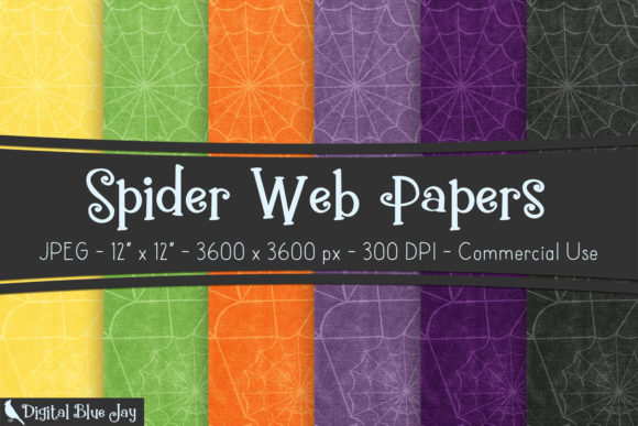 Digital Textured Paper Spider Webs Graphic Backgrounds By digitalbluejay
