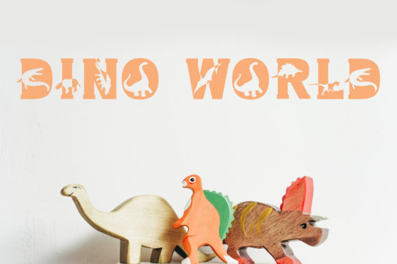 Print on Demand: Dino World Display Font By Vladimir Carrer