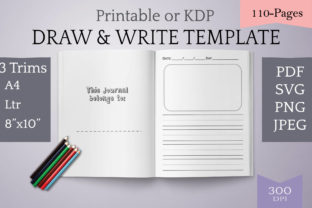 Print on Demand: Draw & Write Kids Writing Template Graphic Teaching Materials By Digital to Art