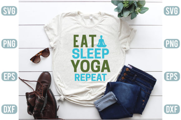 Eat Sleep Yoga Repeat Graphic Crafts By craftstore