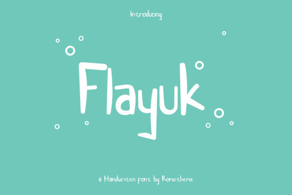 Print on Demand: Flayuk Display Font By rometheme