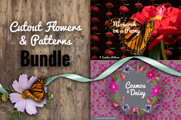Floral Bundle - Cutout Flowers Graphic Patterns By neauth