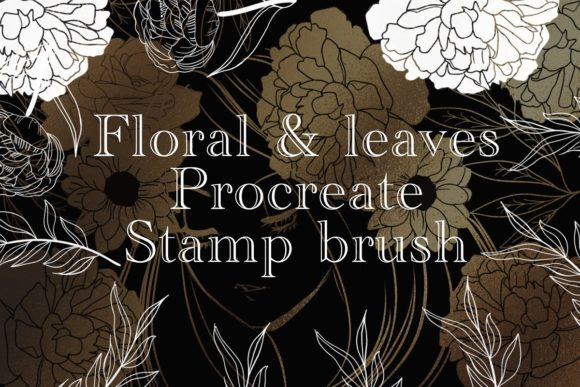 Print on Demand: Floral and Leave Stamp Procreate Brush Graphic Brushes By meisanmui
