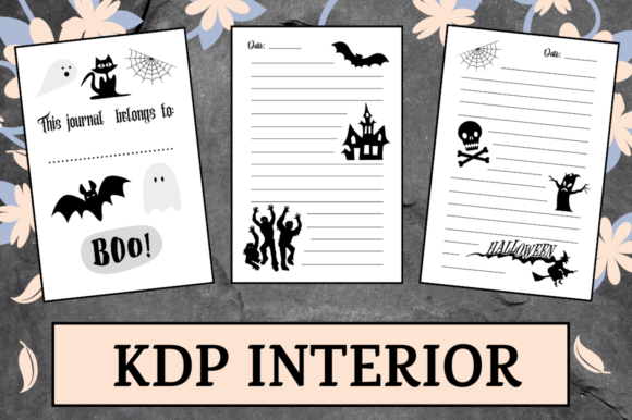 Print on Demand: Halloween Lined Journal | KDP Interior Graphic KDP Interiors By Hungry Puppy Studio