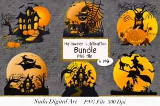 Print on Demand: Halloween Sublimation Bundle Graphic Illustrations By Suda Digital Art