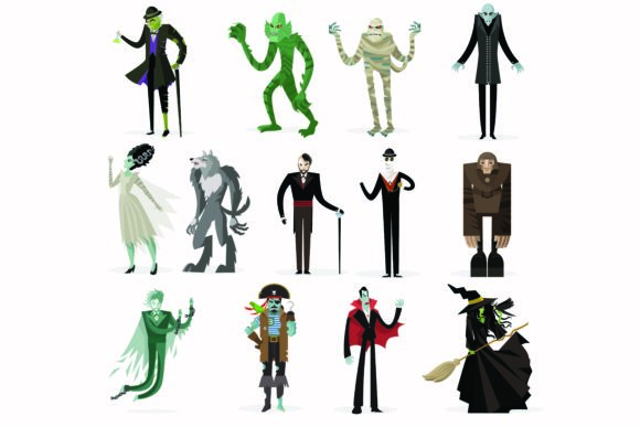 Print on Demand: Halloween Cartoon Characters Collection Graphic Illustrations By BOdesign