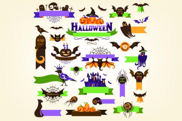Print on Demand: Halloween Items Collection Graphic Illustrations By BOdesign