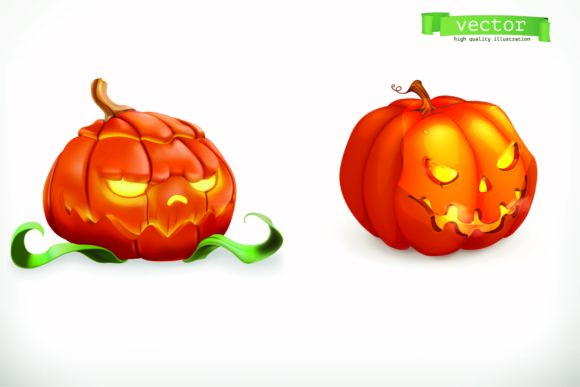 Print on Demand: Halloween Pumpkin in  High Illustration Graphic Illustrations By BOdesign