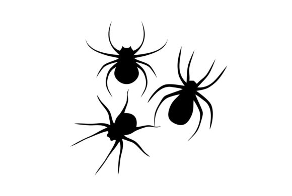 Print on Demand: Halloween Spider Cutout Grafik Plotterdateien von PatternHousePk