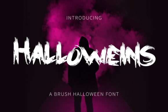 Print on Demand: Halloweins Display Font By rometheme