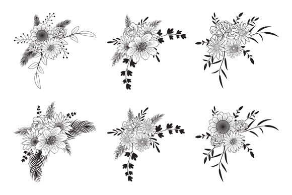 Print on Demand: Hand Drawn Floral Decorative Border Graphic Objects By anomali.bisu