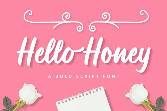 Print on Demand: Hello Honey Script & Handwritten Font By Graphue