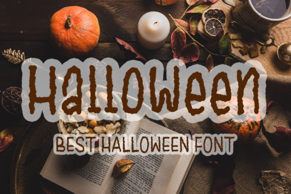 Print on Demand: Halloween Display Font By FL Space