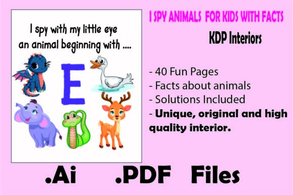 Print on Demand: I Spy Animals  for Kids with Facts Graphic KDP Interiors By KDP_Interior_101