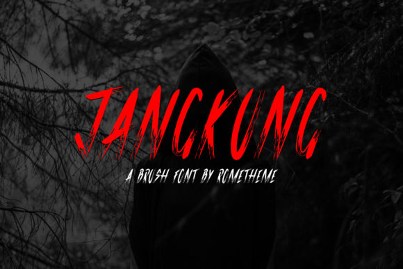 Print on Demand: Jangkung Display Font By rometheme