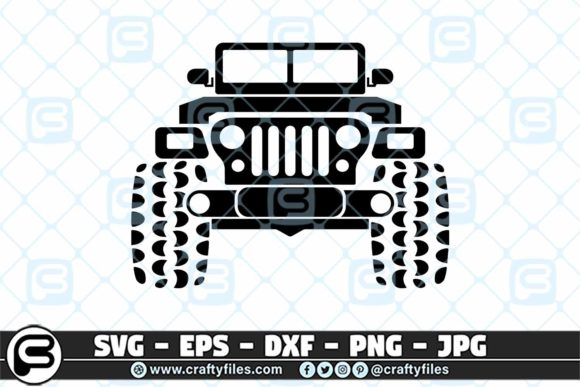 Print on Demand: Jeep Car Outdoor SVG Graphic Crafts By Crafty Files