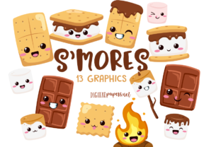 Print on Demand: Kawaii S'mores Graphic Illustrations By DigitalPapers
