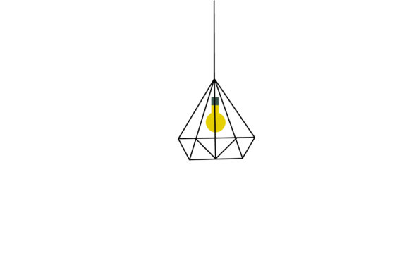 Living Room Yellow Light Illustrations Graphic Illustrations By PiGeometric