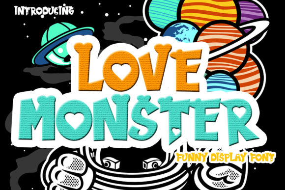Print on Demand: Love Monster Display Schriftarten von Eddygoodboy